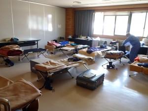 静岡県職員の方々の寝ている部屋