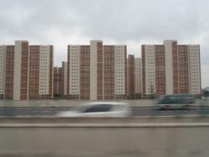 高層マンションだらけの上海