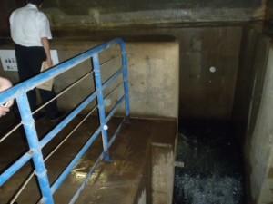 奥野ダム 小水力発電設置予定場所