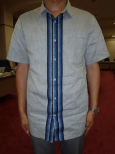 県主導で作った遠州織物の夏服です。